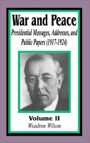Cover of: Presidential Messages, Addresses, and Public Papers 1917-1924