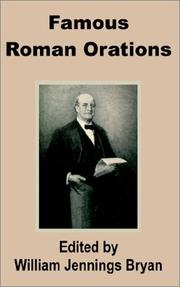 Cover of: Famous Roman Orations