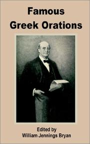 Cover of: Famous Greek Orations