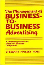 Cover of: The management of business-to-business advertising