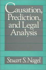 Cover of: Causation, prediction, and legal analysis