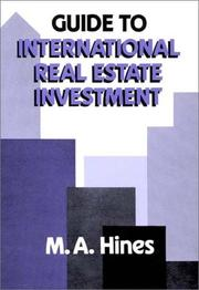 Cover of: Guide to international real estate investment