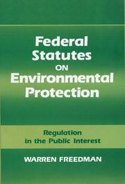 Cover of: Federal statutes on environmental protection