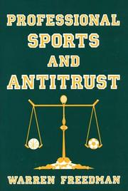 Cover of: Professional sports and antitrust