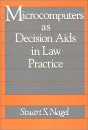 Cover of: Microcomputers as decision aids in law practice