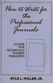 Cover of: How to write for the professional journals