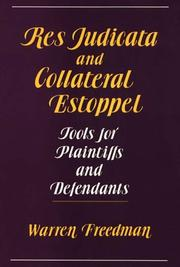 Cover of: Res judicata and collateral estoppel