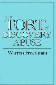 Cover of: The tort of discovery abuse