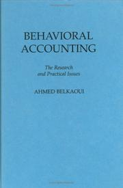 Behavioral accounting (1989 edition) | Open Library