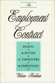 Cover of: The employment contract
