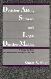 Cover of: Decision-aiding software and legal decision-making