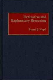 Cover of: Evaluative and explanatory reasoning