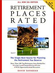 Retirement Places Rated by David Savageau