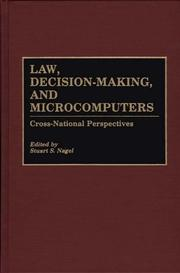 Cover of: Law, Decision-Making, and Microcomputers
