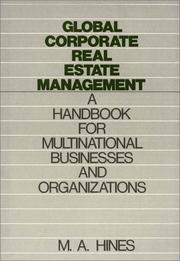 Cover of: Global corporate real estate management