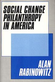 Cover of: Social change philanthropy in America