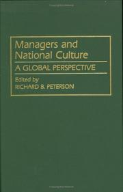 Cover of: Managers and national culture |