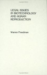 Cover of: Legal issues in biotechnology and human reproduction
