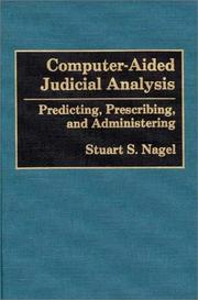 Cover of: Computer-aided judicial analysis