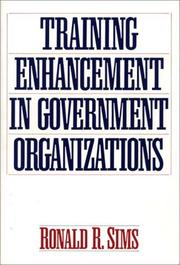 Cover of: Training enhancement in government organizations