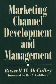 Cover of: Marketing channel development and management