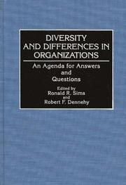 Cover of: Diversity and differences in organizations