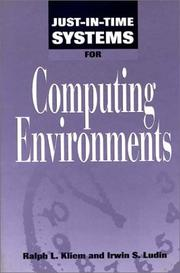 Cover of: Just-in-time systems for computing environments