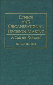 Cover of: Ethics and organizational decision making