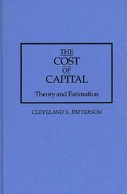 Cover of: The cost of capital