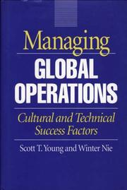Cover of: Managing global operations