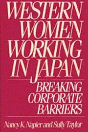 Cover of: Western women working in Japan | Nancy K. Napier