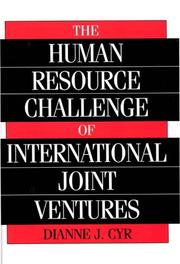 Cover of: The human resource challenge of international joint ventures