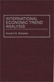 Cover of: International economic trend analysis