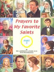 Cover of: Prayers to My Favorite Saints