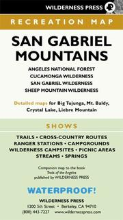 Cover of: San Gabriel Mountains Recreation Map | Wilderness Press.