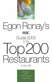 Cover of: Egon Ronay's RAC Guide