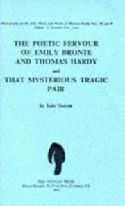 Cover of: The poetic fervour of Emily Bronte and Thomas Hardy