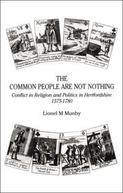 The common people are not nothing by Lionel M. Munby