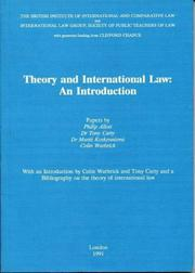 Cover of: Theory and international law