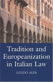 Cover of: Tradition And Europeanization in Italian Law