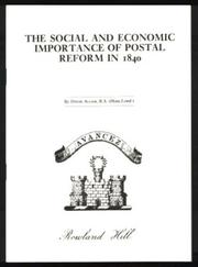 Cover of: The social and economic importance of postal reform in 1840 | David R. Allam
