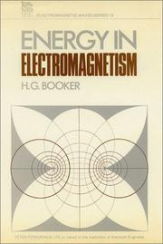 Cover of: Energy in electromagnetism | Henry G. Booker