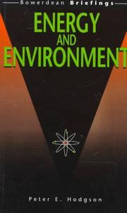 Cover of: Energy and environment