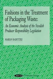 Cover of: Fashions in the Treatment of Packaging Waste