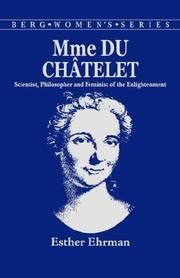 Cover of: Madame du Chatelet | Esther Ehrman