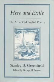 Cover of: Hero and Exile | Stanley B. Greenfield