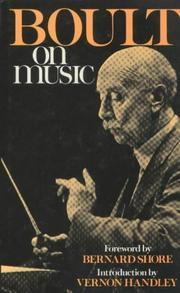 Cover of: Boult on music
