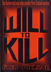 Cover of: Will to Kill
