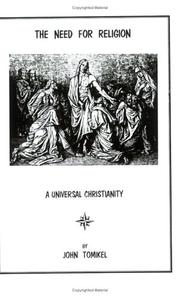 Cover of: The Need For Religion