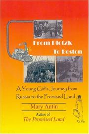 Cover of: From Plotzk to Boston
